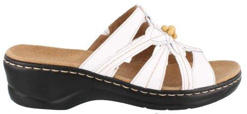 CLARKS Women's Lexi Myrtle Sandal,White,6 M US
