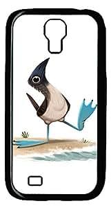 Brian114 Samsung Galaxy S4 Case, S4 Case - Cool Black Back Hard Case for Samsung Galaxy S4 I9500 Lovely Bird Design Hard Snap-On Cover for Samsung Galaxy S4 I9500