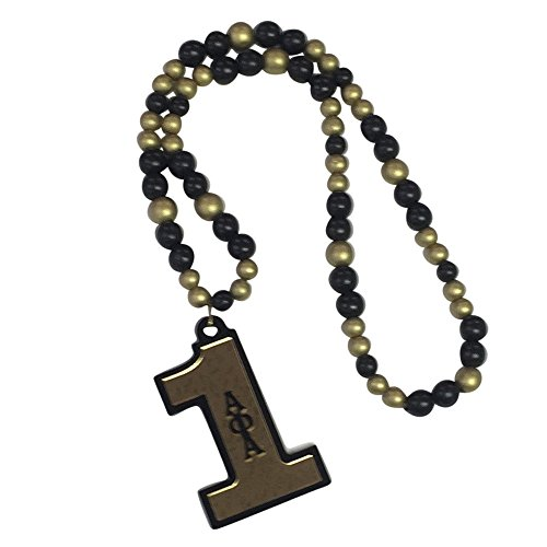 Alpha Phi Alpha Fraternity Acrylic Line Number 16 Inch Long Tiki Bead Necklace (#1 Tiki - Please Return Tiffany To