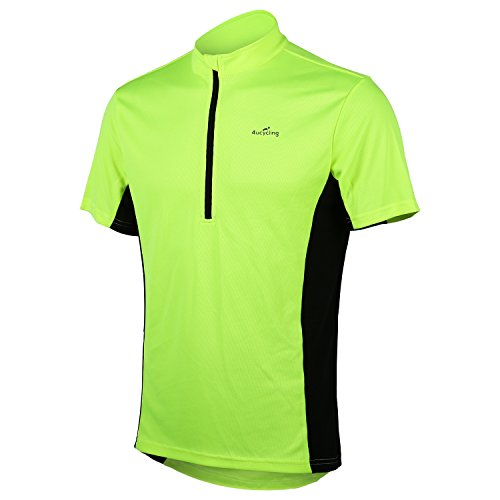 Short Sleeve Cycling Jersey - US Size Men's Shirts for Running Exercise Fitness