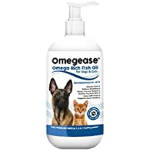 100% Pure Omega 3, 6 & 9 Fish Oil for Dogs and Cats - Best Supplement For Skin, Coat, Joint, Heart Health & Boosts Immunity - Liquid From Wild Caught Fish - Better Source of DHA & EPA Than Alaskan Salmon Oil - Results in 30 Days or Your by Finest For Pets