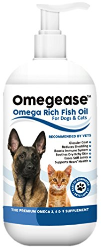 100% Pure Omega 3, 6 & 9 Fish Oil for Dogs and Cats - Best For Skin, Coat,...