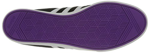 Adidas Neo Courtset W zapatilla de deporte, negro de plata / metálico / azul, 5 M US Black/White/Shock Purple Fabric