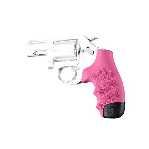 Grips Pistol Pink - Hogue S&W J Frame Round Butt Rubber Monogrip, Pink