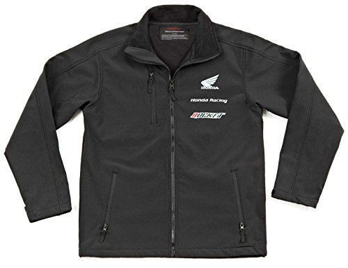 Joe Rocket 'Honda Racing Soft Shell' Mens Black Non-Hooded Textile Jacket - Large