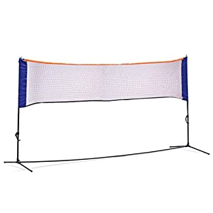 10 ft Portable Adjustable Badminton Volleyball Tennis Net Set with Stand/Frame for Training