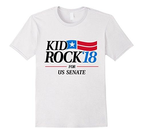 Mens Kid for US Senate 2018 Men's T-Shirt In Rock We Trust Medium White