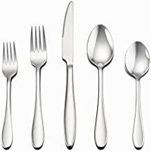 Flatware Set, 40-Piece Silverware Set, LIANYU Stainless Steel Home Kitchen Hotel Restaurant Tableware Cutlery Set, Service for 8, Include Forks/Spoons/Knives, Mirror Finished, Dishwasher Safe