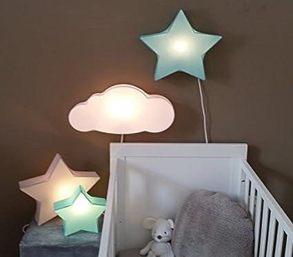 Luminaire enfant/Applique Murale/Applique Enfants Etoille Vert