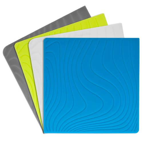 Modern-twist Coaster Notz Silicone Coasters, Studio, Tide, Set of 4 ()