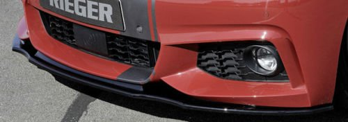 Rieger Front Lip - BMW Rieger OEM F32 F33 F36 4 Series Front Spoiler Lip For M Sport Front Bumper