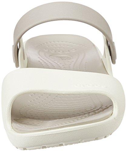 Crocs Femmes Coretta Sandale Oyster / Platine