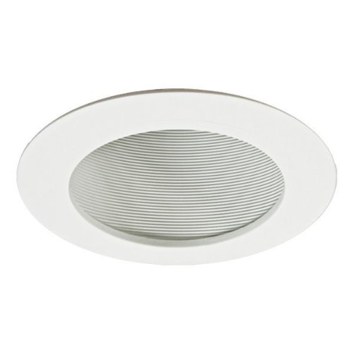 Nora NTP-614 - 6 in. - White Phenolic Stepped Baffle for Sloped Ceiling by Nora Lighting (Phenolic Stepped Baffle)