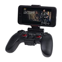 GreeGear GameSir-G3 Upgrade Version Wireless Game Controller Bluetooth Gamepad Joysticks for PC(Windows XP/7/8/8.1/10) Android PS3 - Black