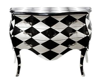 Kommode schwarz weiß  Casa Padrino Barock Kommode Karo Schwarz/Weiß - Handgefertigt aus ...