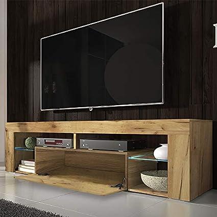 Marrone chiaro Selsey Mobile per TV 50.5 x 140.0 x 35.0 cm