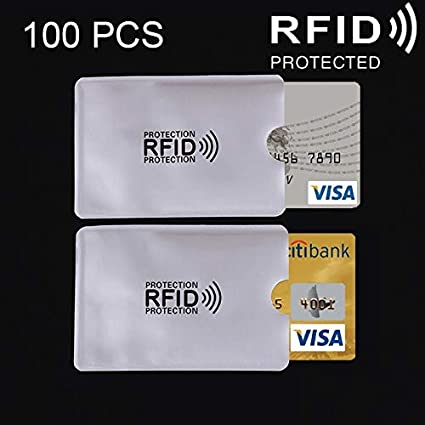 Hermoso Funda Protectora de Tarjeta 100 PCS Funda RFID ...