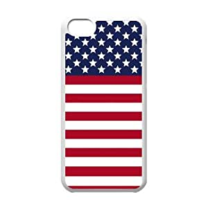 iPhone 5c Cell Phone Case White USA Flag Block Khdcy