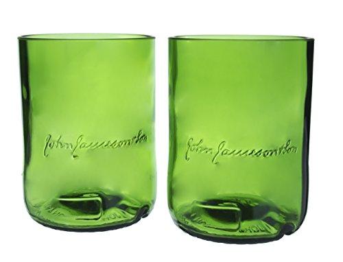 Jameson's Irish Whiskey Reclaimed Bottles Glassware Barware Drinkware Tumblers Gift Set