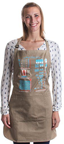 Cooking Conversion Chart | Funny, Useful Cook, Chef, Baking Baker Pocketed Apron Pebble Brown - http://coolthings.us