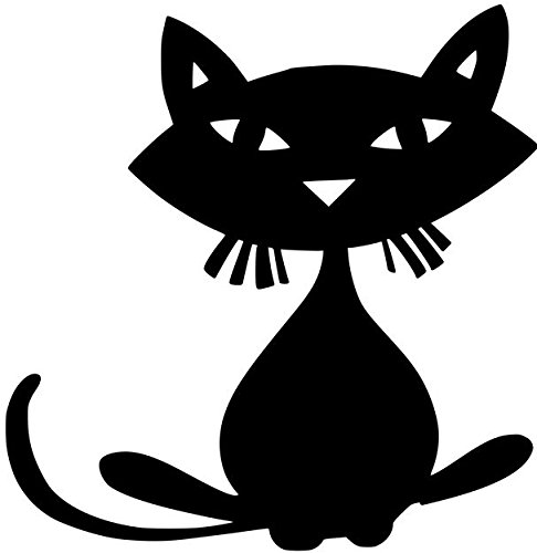 Minglewood Trading Cat - Feline Kitty Halloween Black Cat Vinyl Decal Sticker - 5