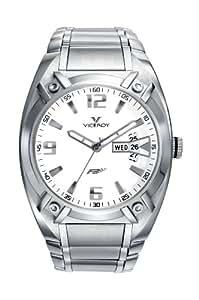 Viceroy 47565-05 - Reloj de caballero de cuarzo, correa de acero inoxidable color plata