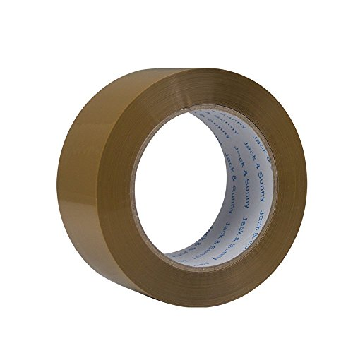 Box Sealing Tape - Jack&Sunny Heavy Duty Brown Packing Tape 2 inches 150 Yards(Pack of 6 Big Rolls) Extra Thick Low Noise Packaging Tape Great for Shipping Moving Mailing Depot&Storage (Large)