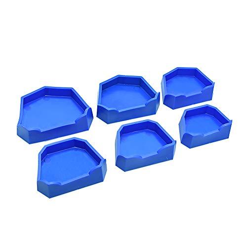 Dental Lab Model Former Base Molds Blue Color (6 Pcs/Pack) (Cast Former Dental Base)