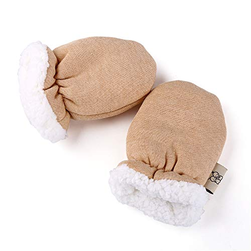 (Cntqiang Winter Thicken Warm Fleece Gloves Infant Newborn Baby Boys Girls Face Anti Grasping Mittens for 0-12 Months )