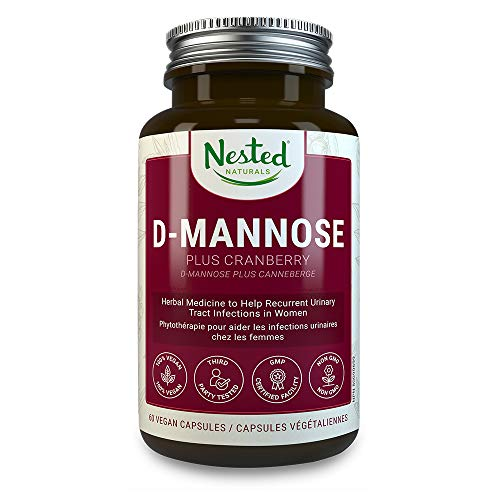 D-MANNOSE 500 mg | 60 Vegan Capsules with Potent Cranberry Extract | Prevent & Provide Relief for Occasional UTI Infections | Maintain Urinary Tract and Bladder Health | DMannose Pills for Men & Women
