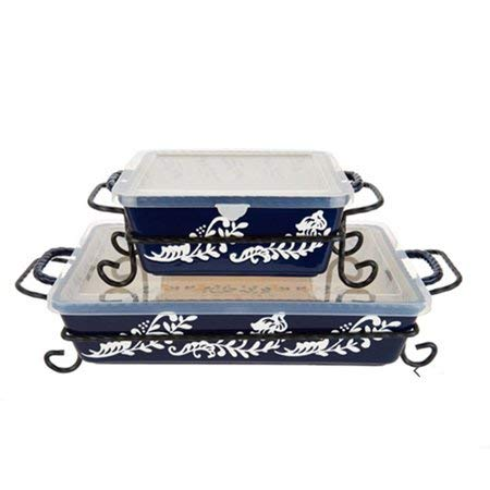 Blue Valerie Bertinelli 4-Piece Bake And Serve Set for sale  Delivered anywhere in USA