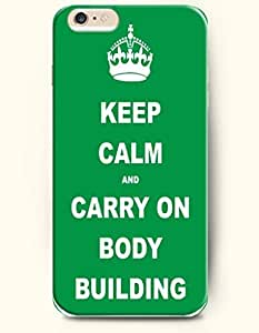 iPhone Case,OOFIT iPhone 6 Plus (5.5) Hard Case **NEW** Case with the Design of keep calm and carry on body building - Case for Apple iPhone iPhone 6 (5.5) (2014) Verizon, AT&T Sprint, T-mobile