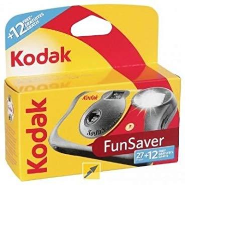 kodak 3920949 Fun Saver Single Use Camera with Flash (Yellow/Red)
