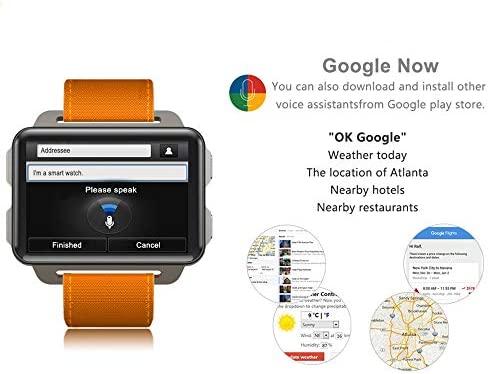 HUIGE Smartwatch, 1.4 Pulgadas De Pantalla OLED, Android Wear 2.0 ...