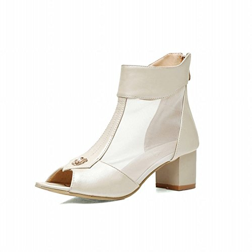 Tacco Sandali Medio Dolce Con Toe Stile Nuovo Shoes Peep Beige Carol Dolce w4pRqYw