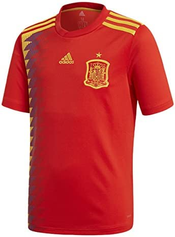 adidas 1ª Equipación Federación Española de Fútbol 2016/2017 - Camiseta Oficial niños: Amazon.es: Ropa y accesorios