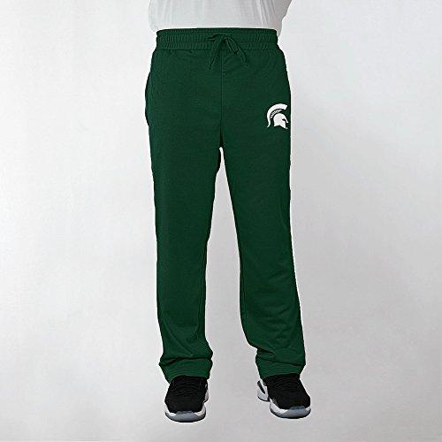 Elite Fan Shop Michigan State Spartans Poly Sweatpants Captain Green - L - Michigan State Pants