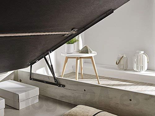 HOGAR24.es 3D- Canapé abatible de Madera de Gran Capacidad Tapa 3D Transpirable Color Blanco vintage-135x190cm: Amazon.es: Juguetes y juegos