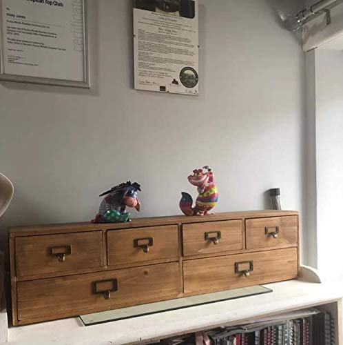 Cajonera rústica de madera maciza para el hogar, la oficina, la ...