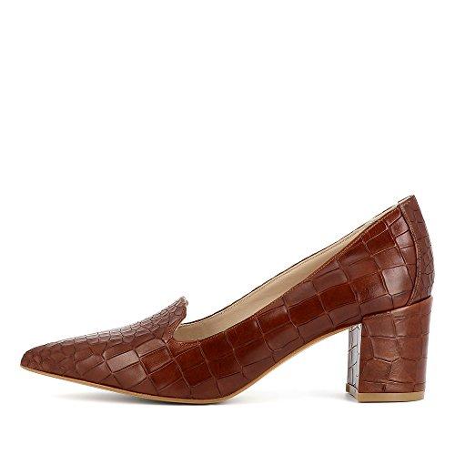 marrón Evita vestir de Romina para de Zapatos Shoes mujer Piel zZSZxrqBnI