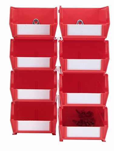 Triton Products 028-R Bin Kits for Pegboard Storage, Red, 8-Pieces Triton Products Bin Kit