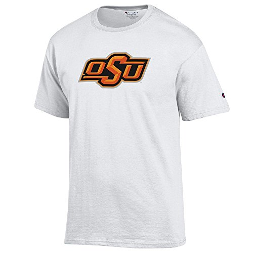 Elite Fan Shop Oklahoma State Cowboys TShirt Icon White - (Oklahoma State Cowboys University Fan)