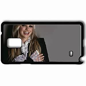 Personalized Samsung Note 4 Cell phone Case/Cover Skin Anna Faris Blonde Smiling Blouse Jacket Black
