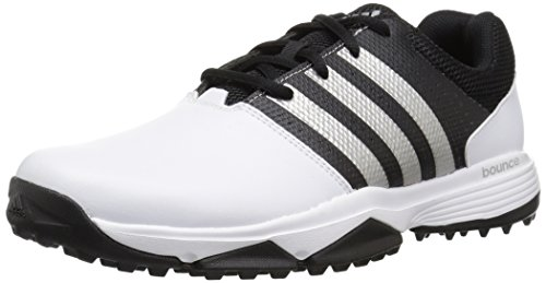 adidas Men's 360 Traxion Golf Shoe, Footwear White/Footwear White/CORE Black, 10 M US
