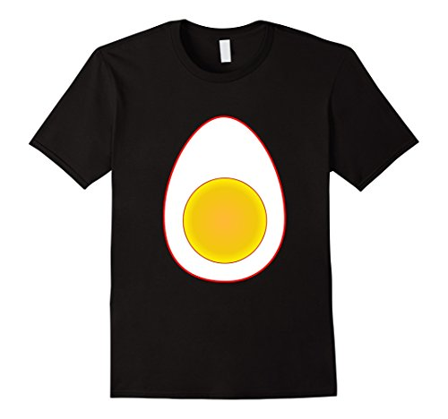 Funny Last Minute Costume Ideas (Mens Funny Deviled Egg Halloween T-Shirt Last Minute Costume Tee XL Black)