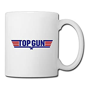 Christina Top Gun Logo Ceramic Coffee Mug Tea Cup White