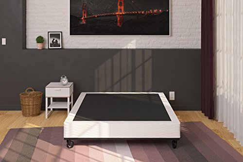 Signature Sleep 7-Inch Folding Mattress Box Spring/Foundation, Sturdy Iron Construction, Folded for Easy Maneuvering, Queen