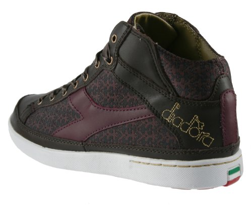 Donna Speciale by Diadora Womens High Top, Lace-up, Fashion Sneakers Brown/Maroon