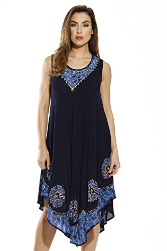 Batik Summer Dress (Riviera Sun 20653-NB-L Dress/Dresses For Women)