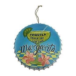 Margarita Metal Bottle Cap, Wall Decor for Tiki Bar or Mancave, 9.75 Diameter